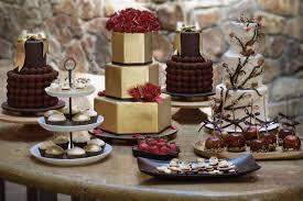 rustic dessert table display