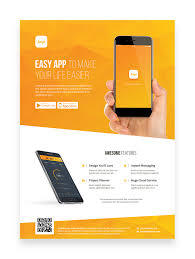 Design Flyer App Mobile App Promotion Flyer Template On Pantone Canvas Gallery