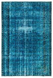 overdyed blue rug 9x12 oriental