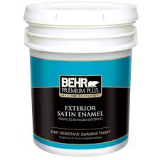 behr exterior paint home depot. BEHR Premium Plus 5-gal. Medium Base Satin Enamel Exterior Paint Behr Home Depot 0