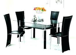 6 seater glass dining table sets set for room chairs of top
