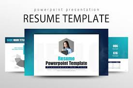 Resume PowerPoint Template Stunning Resume Powerpoint