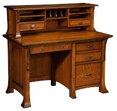 double office desk. desk amish breckenridge single pedestal with optional hutch malibu double office