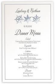 wedding menu cards dinner party menu cards shop menus for snowflake pattern winter snowflake and holiday menus
