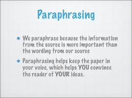 research paragraph essay paraphrasing