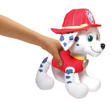Paw Patrol Deluxe Lights And Sounds Plush Real Talking Rubble Paw Patrol Deluxe Lights And Sounds Plush Real Talking Marshall Walmart Com