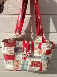 213 best Patchwork Bags images on Pinterest | Big bags, Creative ... & Learn How to Make a Quilted Purse in Quilt-As-You-Go Patchwork Adamdwight.com