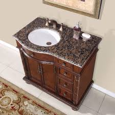 Bathroom Single Vanity 36 Inch Granite Stone Top Off Center Sink Bathroom Single Vanity