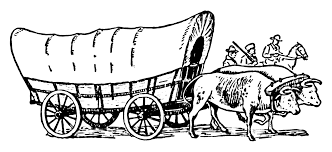 Covered Wagon Coloring Page Coloring Home