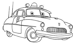 Disegno Di Cars Con Sceriffo Mercury Police Car Da Colorare