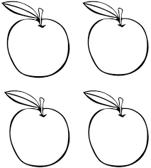 Small Picture Four Apples Coloring Page Kids Coloring Pages Pinterest