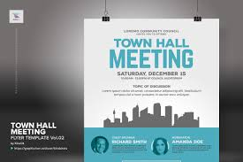 Meeting Flyer Design Town Hall Meeting Flyer Vol 02 Mail Electronic Ad Pdf