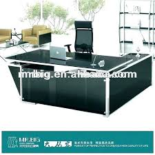 glass top office desk diy round table depot computer exotic large furniture inspiring