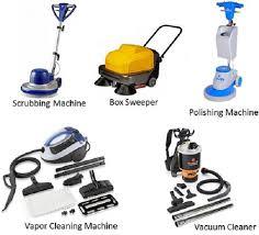 mechanical equipments list hotel housekeeping cleaning equipment