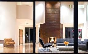 copper fireplace tile surround
