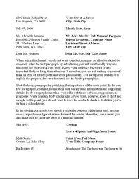 Full Block Format Business Letter Business Formal Letter Template