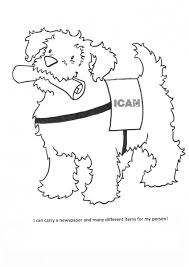 Today you can watch us color in this dog on the computer using the paint colors listed on the screen. Coloring Pages