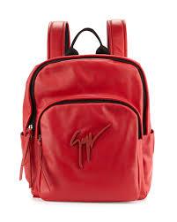 giuseppe zanotti men s tonal logo leather backpack