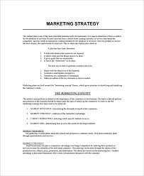 Business Plan Marketing Strategy Template Azzardo