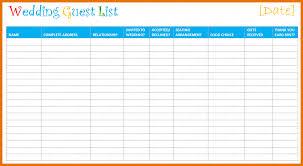 Printable Wedding Guest List Organizer Printable Wedding Guest List Template Major Magdalene