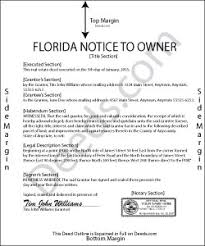 notice to owner form florida florida notice to owner forms deeds com