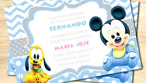Mickey Mouse Baby Shower Invites Baby Shower Invitation Templates