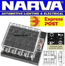 narva 54435 10 way standard ats blade fuse box holder also suit breaker box 200 amp at Breaker Fuse Box Holder
