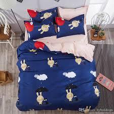 love rabit cartoon bedding sets blue comforter set duvet cover bed sheet sets single double queen king size kids bedding affordable comforter sets black
