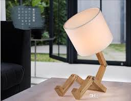 table lamps modern wooden man shade with regard to designs 10