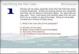 Language Arts A Multimedia Mini Lesson For Identifying The Main Idea