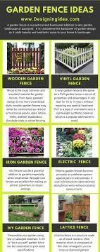 garden fence ideas infographic