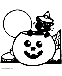 Small Picture Preschool Halloween coloring pages