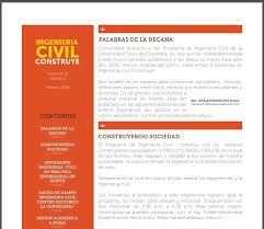 Formatos De Boletines Informativos Boletin Informativo Ingenieria Civil Construye Febrero 2018