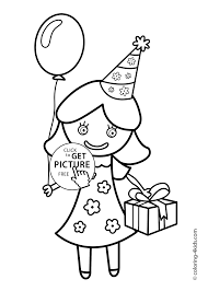 Small Picture Birthday Party Coloring Pages Coloring Coloring Pages