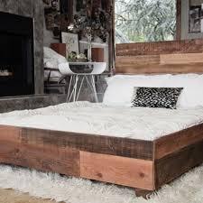 modern platform bed wood. Custom Reclaimed Barn Wood Platform Industrial Bed Modern