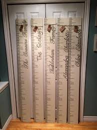 Growth Chart Stencil Designs Hand Painted Personalized Kids Wooden Growth Chart Annie
