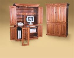 atlas chunky oak hidden home. amish petite computer armoire desk home family and office oak atlas chunky hidden