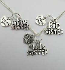 silver necklace big middle little