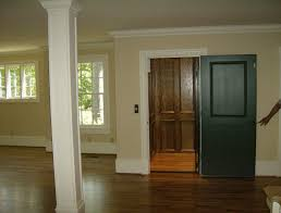 unique wooden black interior doors with single brown glossy wooden doors and broken white wall painting