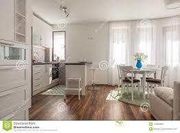 Nieuwe Moderne Woonkamer Met Keuken Nieuw Huis Binnenlandse