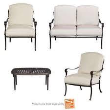 Cast Aluminum Patio Conversation Sets Outdoor Lounge Furniture