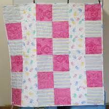 Custom Baby Quilts - Onesie Quilts by MyTyme Creations & Handmade custom quilt baby blanket for a girl Adamdwight.com