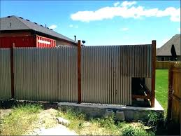 corrugated metal privacy fence metal fence amazing corrugated metal fence plans ideas panels install metal fence