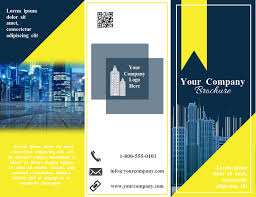 Building Trifold Brochure Template Postermywall