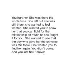 Love Lost Quotes For Her Magnificent Love Lost Quotes For Her Endearing You Lost Her Forever Image