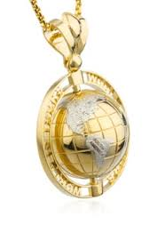 14k yellow gold world is yours globe