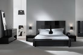 bedroom with black furniture. Bedroom:Excellent Modern Bedroom Applying Black And White Furniture Of Cupboard Twin Nightstand With