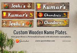 Small Picture Custom Wooden Name Plates Give your Home a Personalized name with