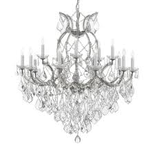 maria theresa 16 light empress crystal chandelier silver