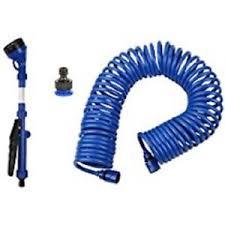 coil garden hose. Blue Coiled Garden Hose Quick Connect Kink Free 50 Ft Five Nozzle Sprayer In BOX Coil A